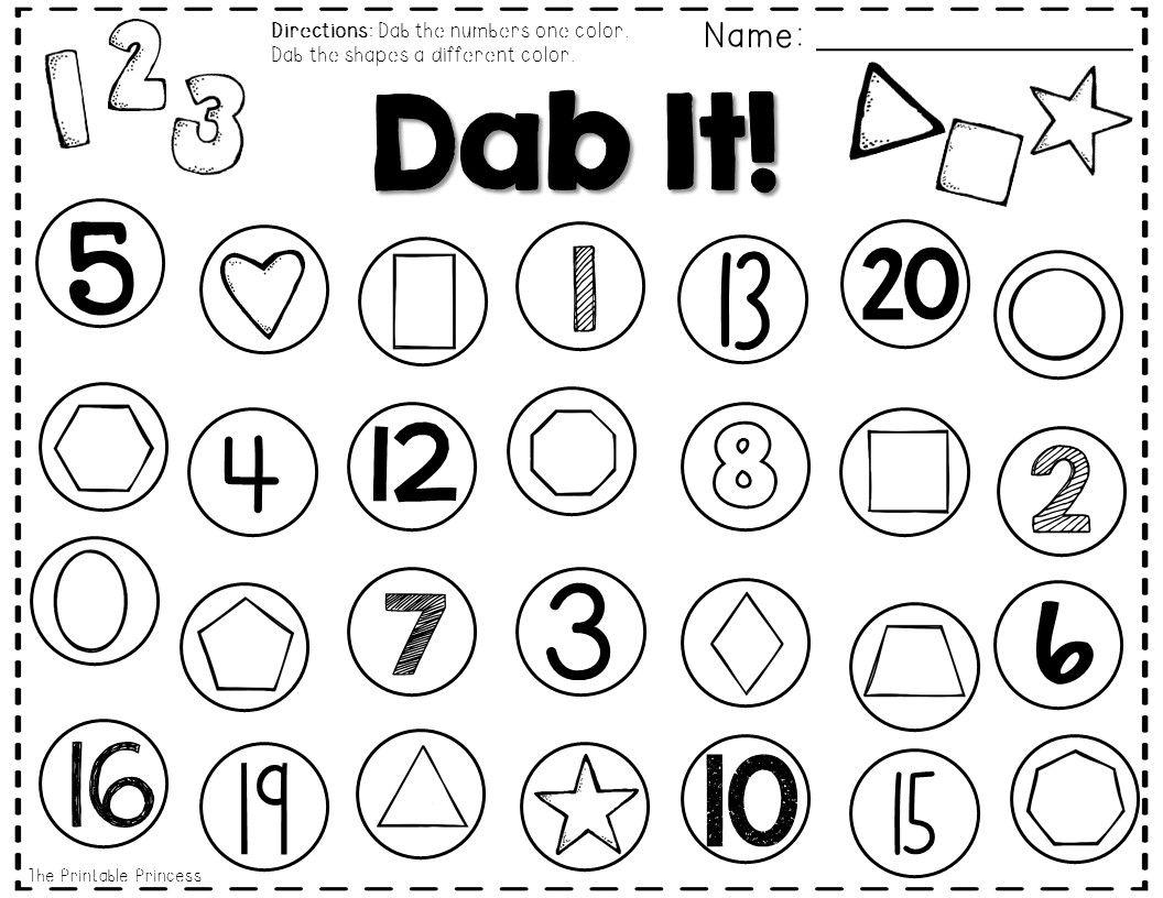 Kindergarten Math Centers {Using Bingo Dabbers
