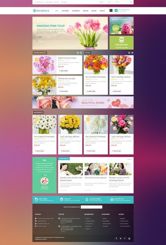 Floral - Responsive PSD Template. Bootstrap Templates. $5.00 ...