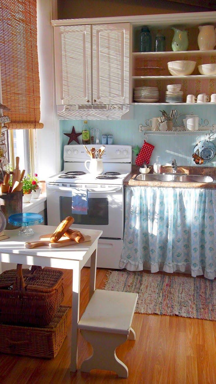 Resultado de imagen de cocina muebles con cortina | cocinas ...