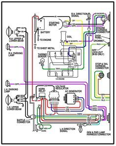 64 chevy c10 wiring diagram chevy truck wiring diagram elec rh pinterest com 1971 GTO Wiring-Diagram 1954 chevy truck color wiring diagram