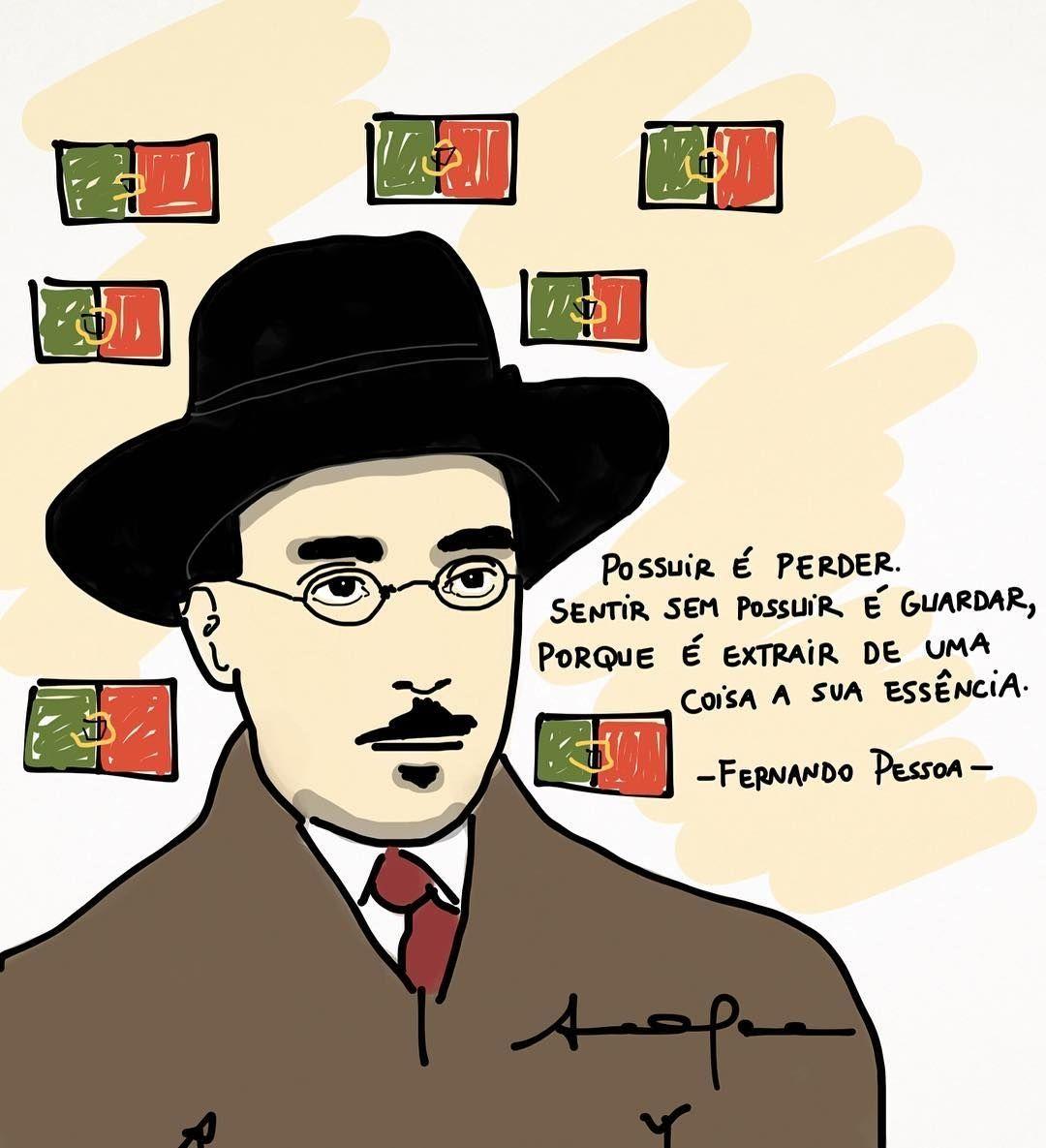 regram @anaclaratissot Madrugada com Pessoa que pessoa recusaria? #rabisco #anaclaratissot #literatura #ilustra #fernandopessoa