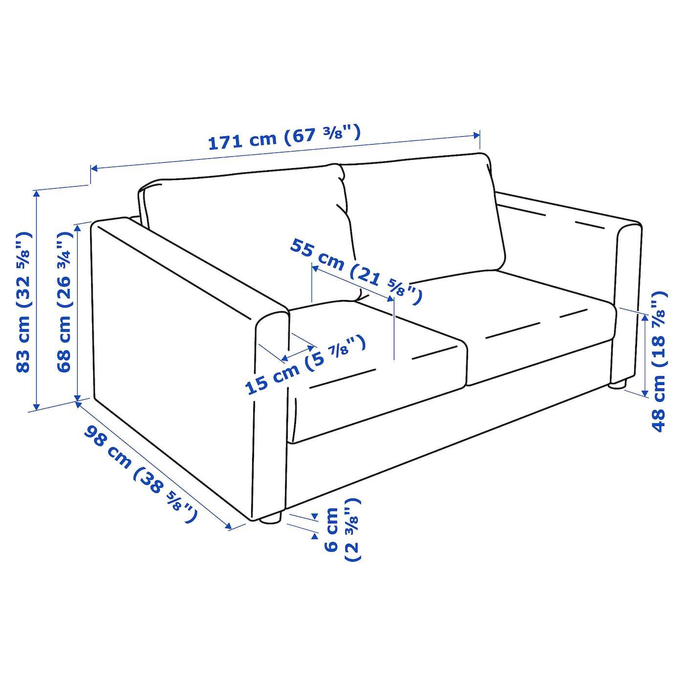 Ikea Vimle Loveseat Gunnared Medium Gray In 2020 Ikea Ikea Vimle Sofa