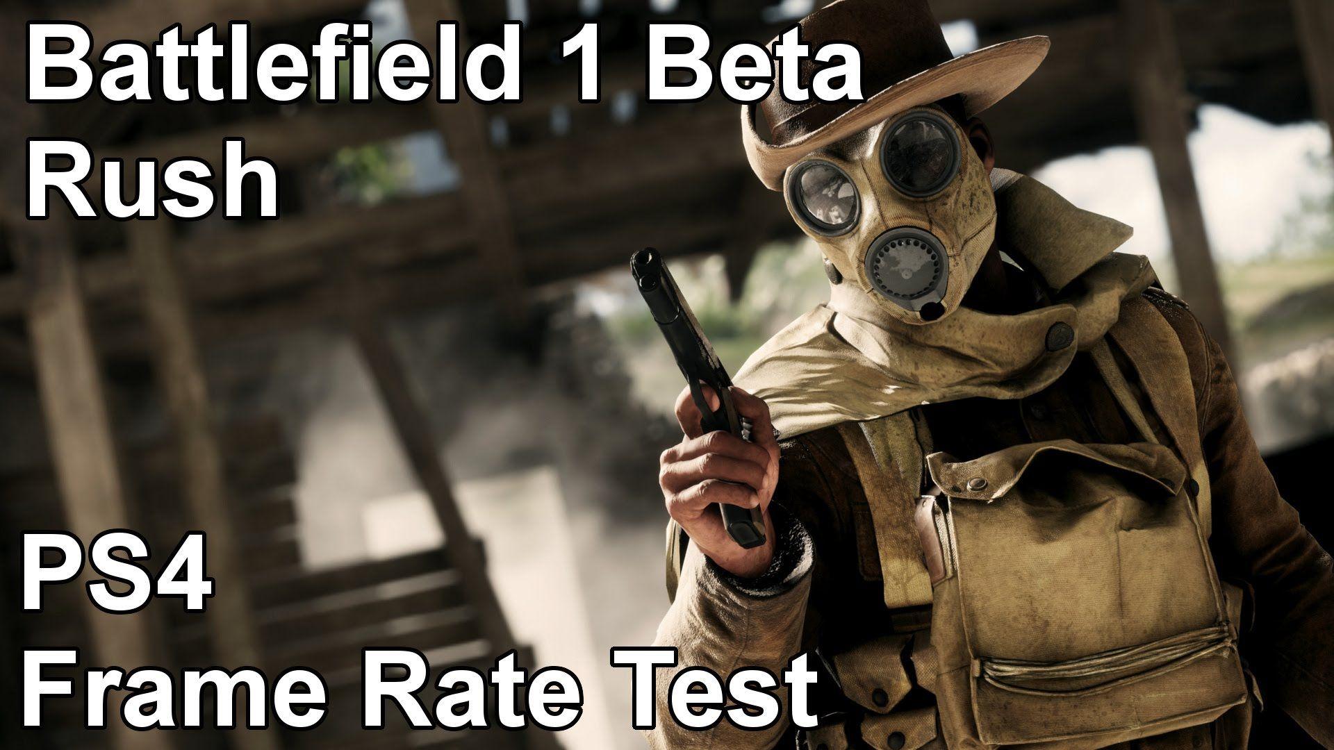 Battlefield 1 Rush Mode PS4 Frame Rate Test (Open Beta