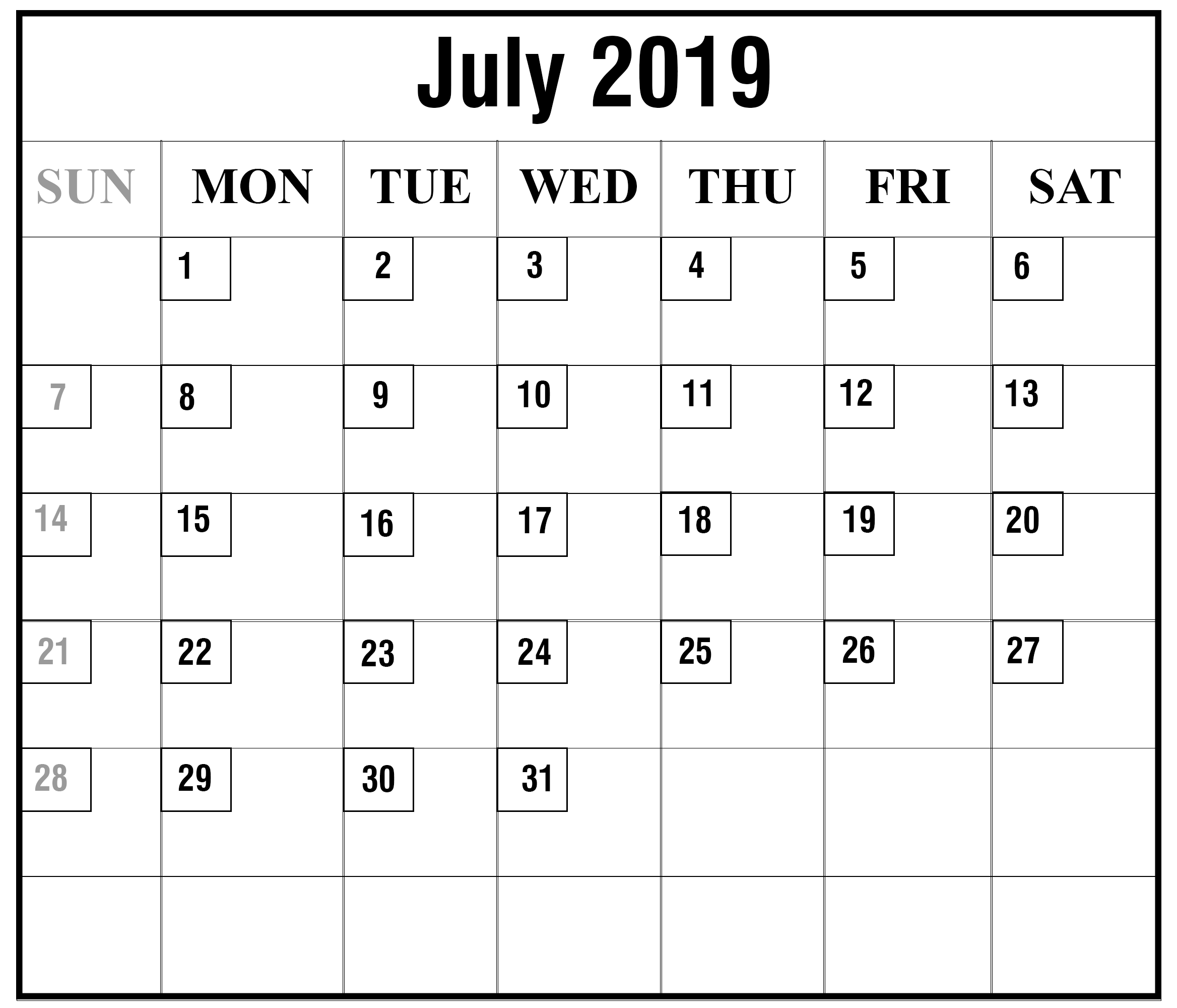 photograph regarding Printable Wiki identified as How toward Timetable Your Thirty day period with July 2019 Printable Calendar