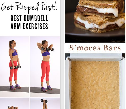 #Pinterest in one picture... #smores #exercises
