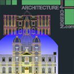 500 classical architecture facades elements for Autocad DWG file