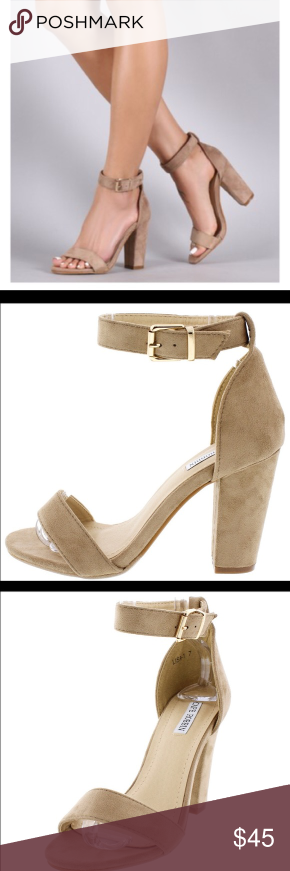 """Taupe Heels, new New with box.  Heel is 3.5"""". Ships out in 4 days. Shoes Heels"""