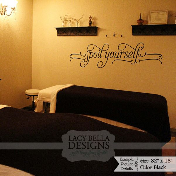 Spoil yourself vinyl lettering wall decal sticker on - Stickers salon design ...