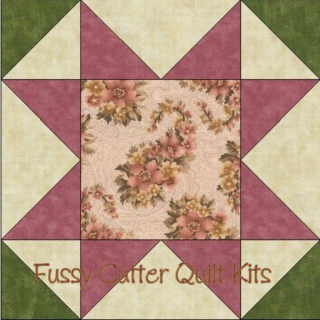 Dusty Rose Sage Floral Fabric Easy Pre-Cut Quilt Blocks Kit ... : pre cut quilt kits for beginners - Adamdwight.com