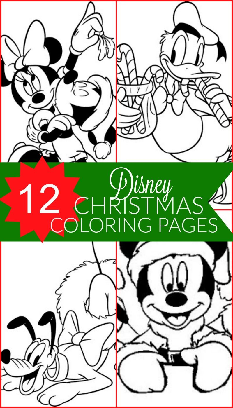 Free Disney Christmas Printable Coloring Pages for Kids in 2018 ...