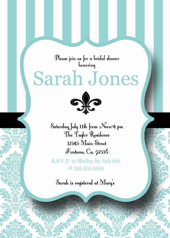 tiffany blue printable bridal shower by invitationstationtoo 1000