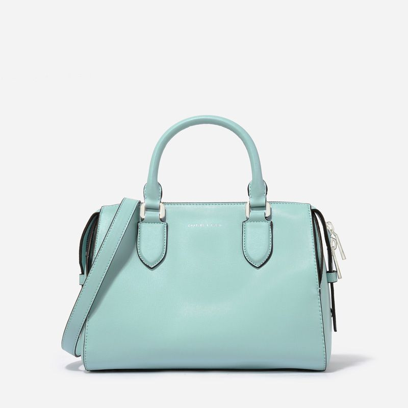 Casual Bowling Bag Light Blue Bags Charles Keith 99