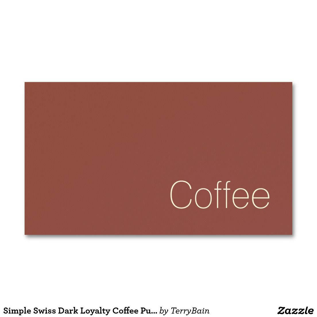 Simple Minimal Swiss Loyalty Coffee Punch-Card Business Card ...