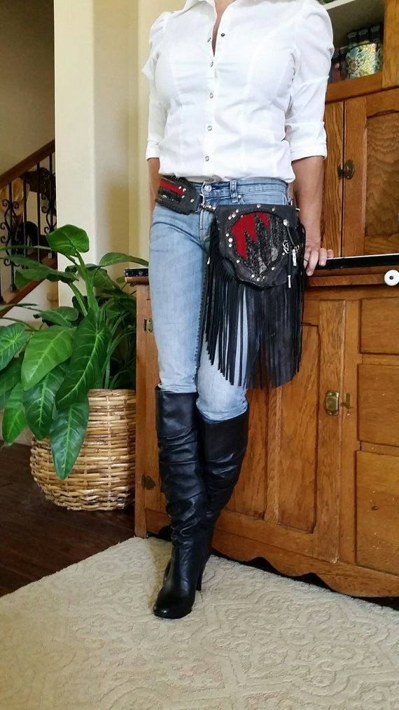 Cowgirl Up With A Hint Of Rock On Hip Bag Belt Bag