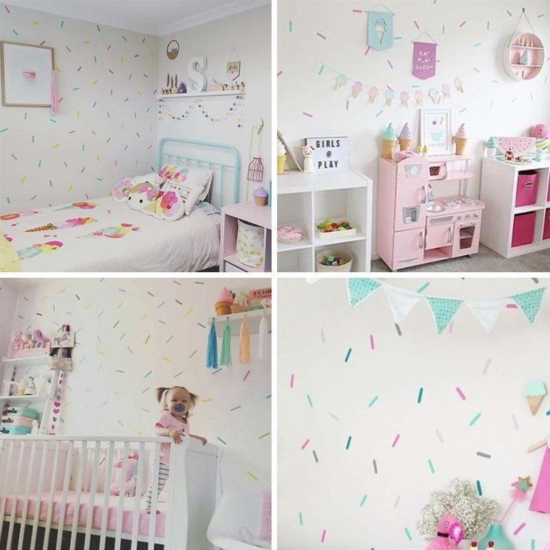Baby Girl Room Sprinkles Wall Stickers Kid Decal Art For Nursery Nursery Room Decor Girl Room Kid Room Decor