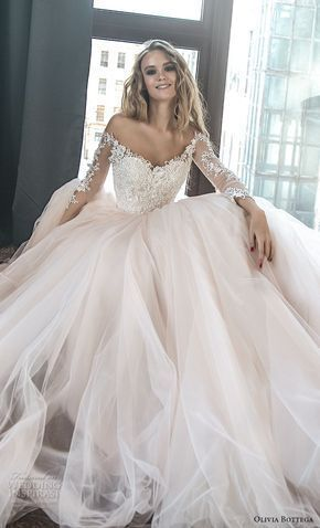 Pin By Fashion Prism On Name Brand Wedding Dresses My Faves In 2020 Wedding Dress Long Sleeve Ball Gown Wedding Dress Elegant Wedding Dress