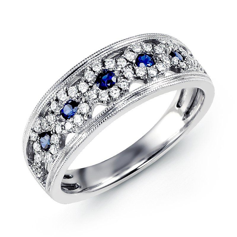 MARS Jewelry: MARS Jewelry Diamond Sapphire Fashion Band, 0.27 ct dia, 0.24 ct saph