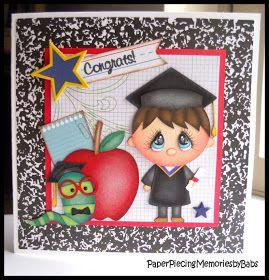 PAPER PIECING MEMORIES BY BABS: Graduation Card