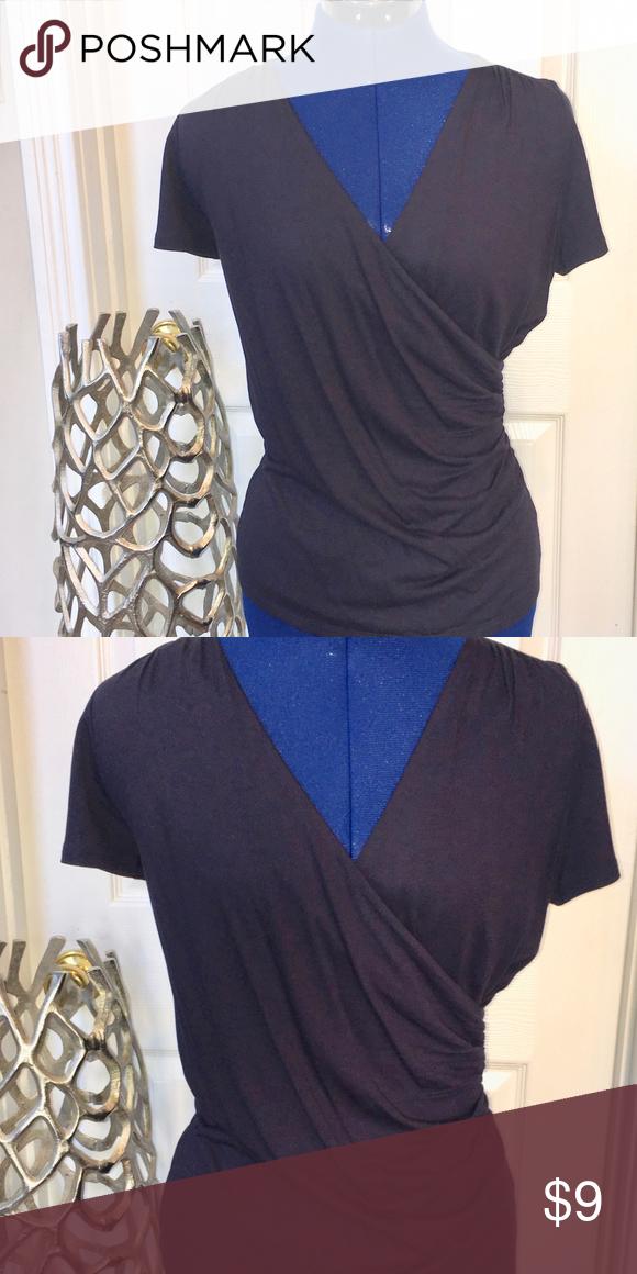 Talbots Womens V-Neck Short Sleeve Shirt - XS