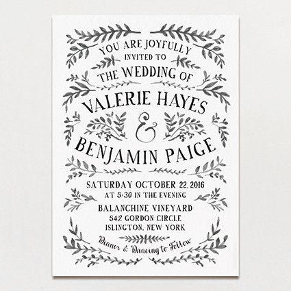 Ink crush wedding invitation printable press vintage wedding ink crush wedding invitation printable press junglespirit Image collections