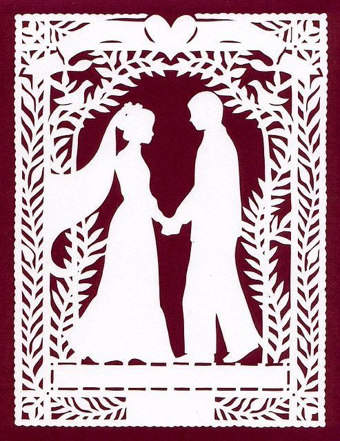 Открытка на свадьбу вытынанка, лет