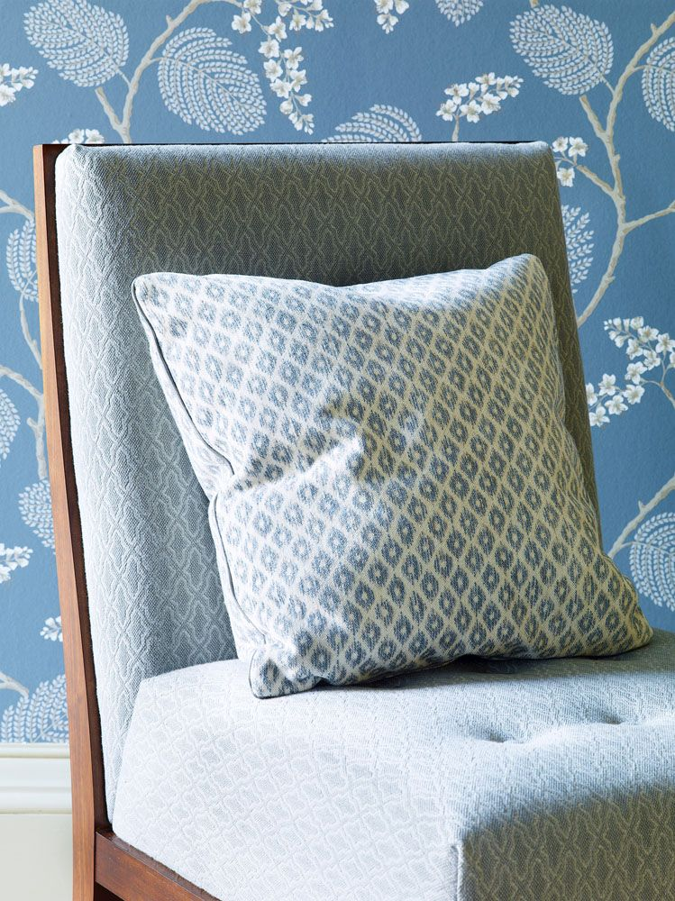 Colefax And Fowler's Atwood (wallpaper), Brodie (chair ...