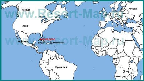 Varadero Na Karte Kuby Karta Mira Karta Kurorty