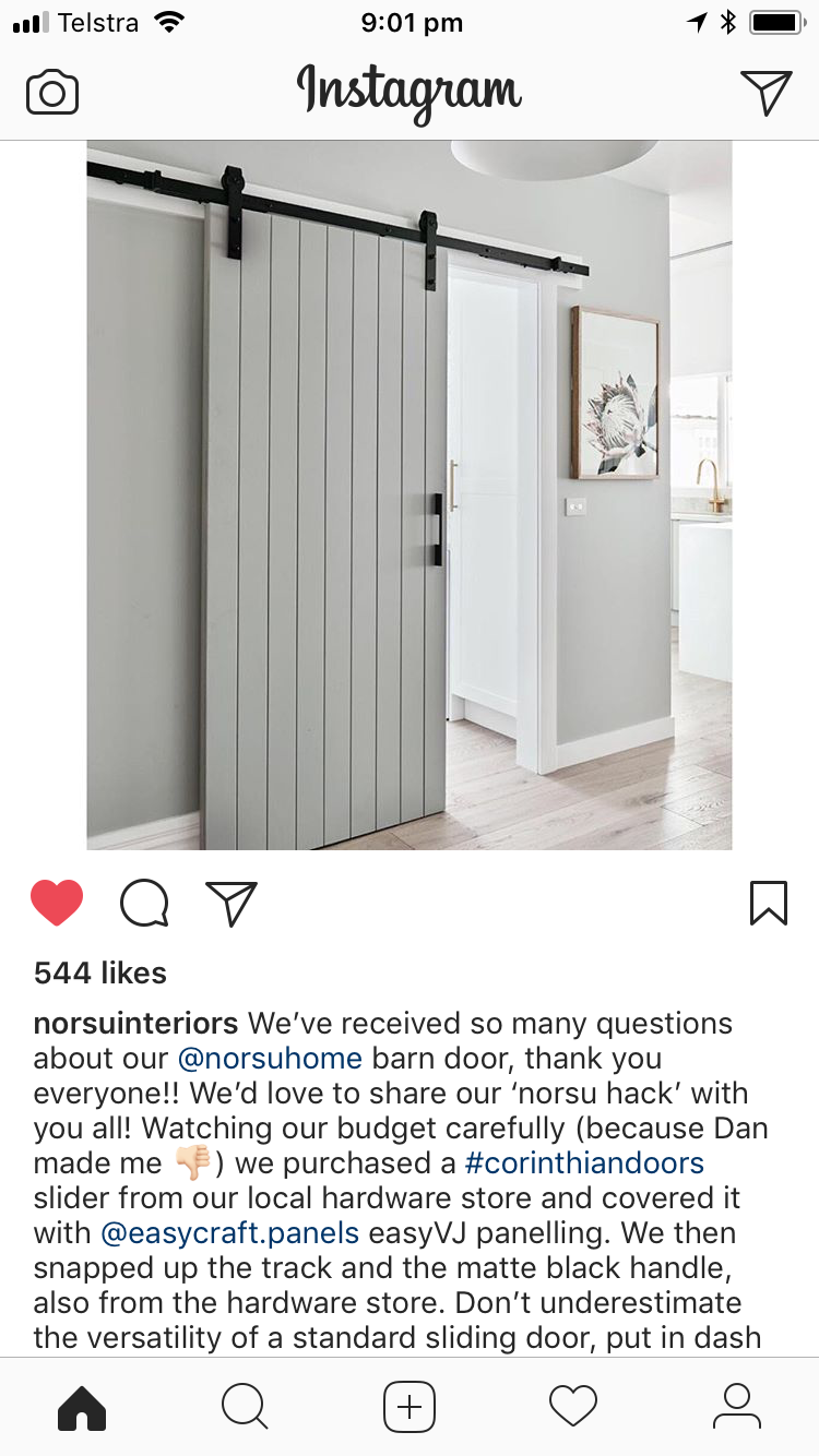 Barn door hack - bunnings hardware. V groove cling on standard ... Internal Sliding Door Frame Bunnings on
