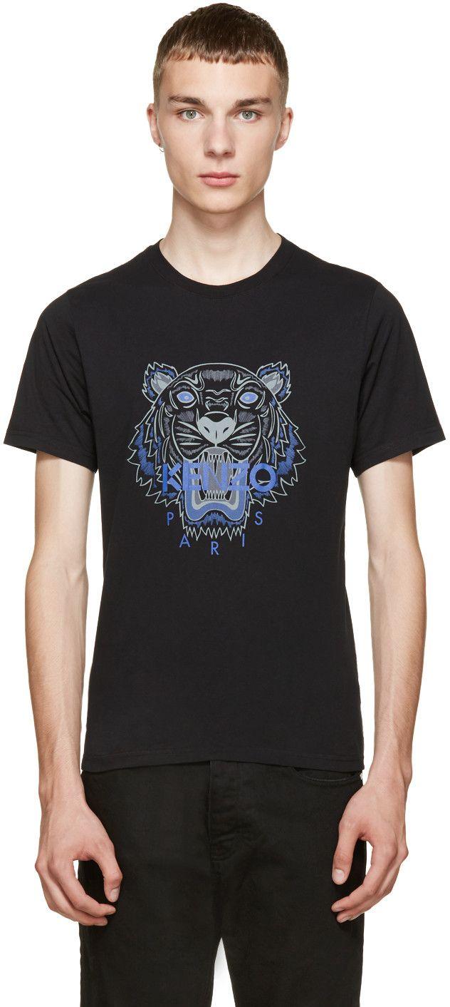 5d756915a KENZO Black & Purple Tiger T-Shirt. #kenzo #cloth #t-shirt | Kenzo ...