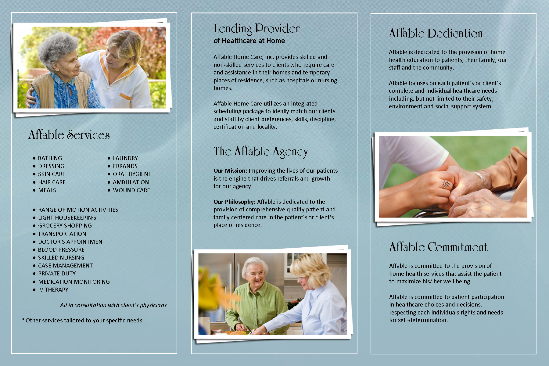 Affable home health care brochure brochures pinterest for Home care brochure template