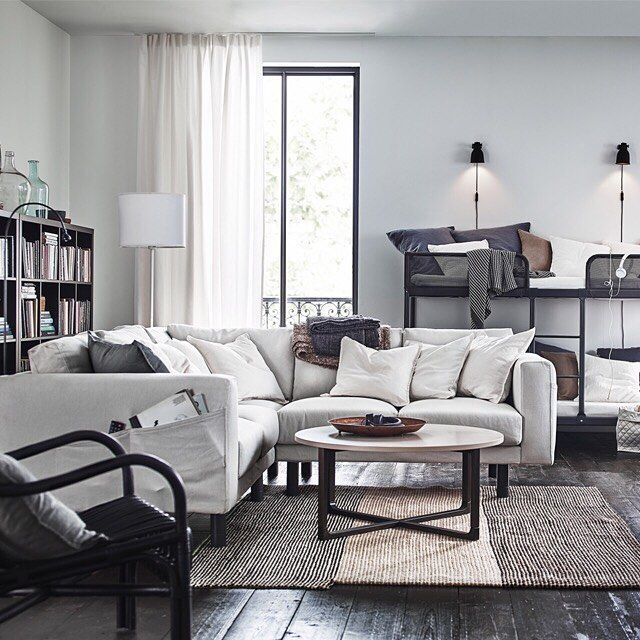 The Perfect Living Room Starts With Plenty Of Seating Endless Combinations Of The Ikea Norsborg Series Makes Room For Ever For Hemmet Mobler Hemma Mobelideer