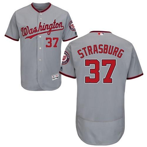 70aca8c57a7 Washington Nationals Cool Base MLB Custom Gray Jersey