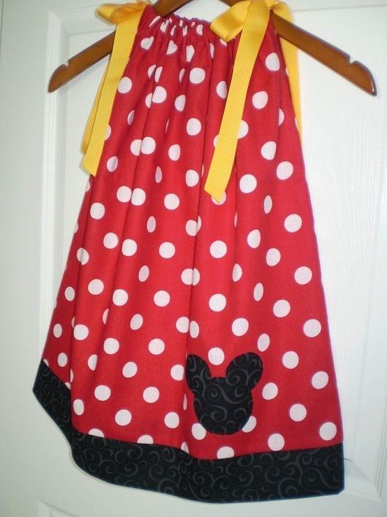 Minnie Mouse pillowcase dress! by gail & Minnie Mouse pillowcase dress! by gail   sewing   Pinterest ... pillowsntoast.com
