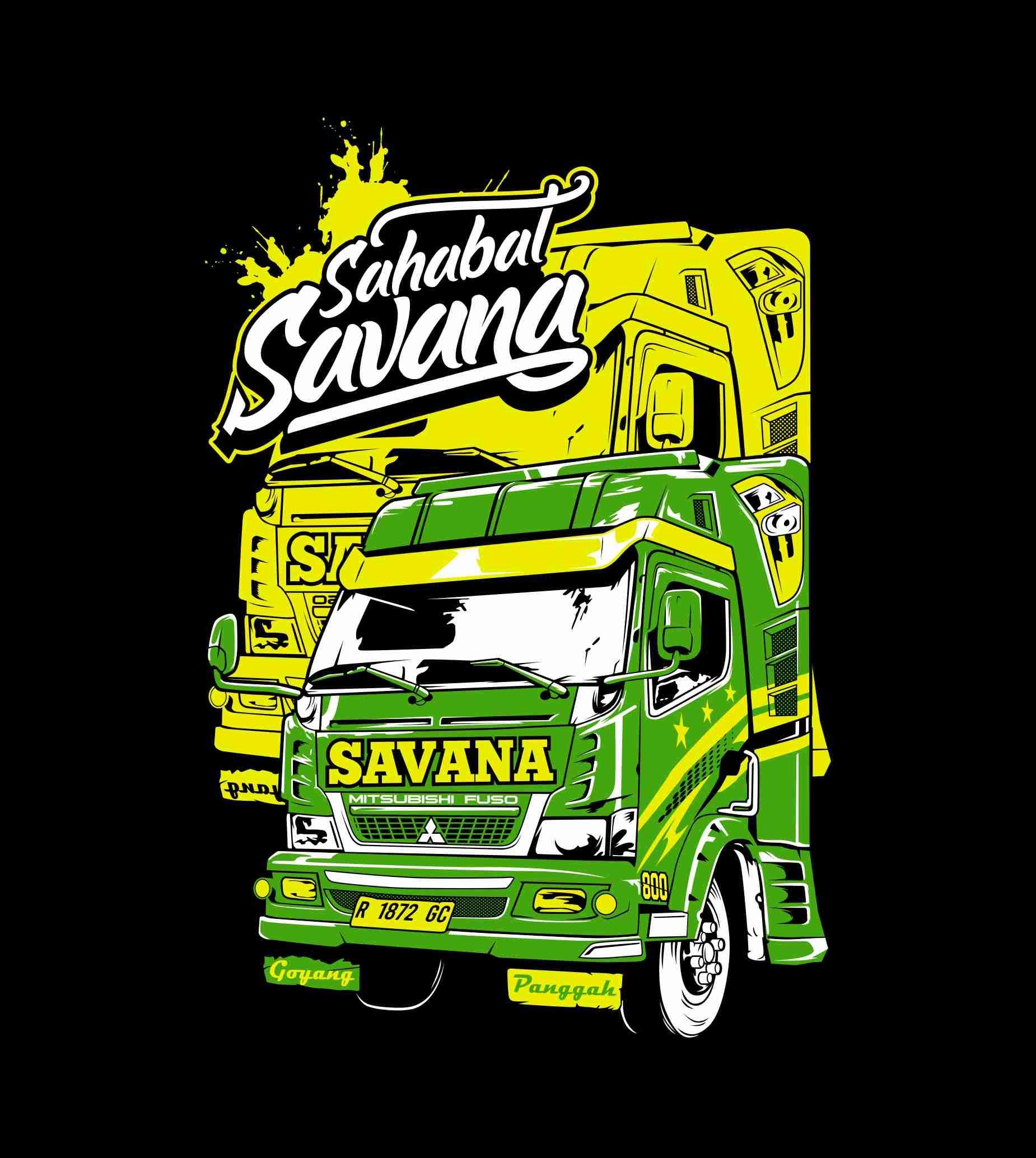 Truk Vector Sahabat Savana Desain Vektor Desain Logo Otomotif Desain Logo