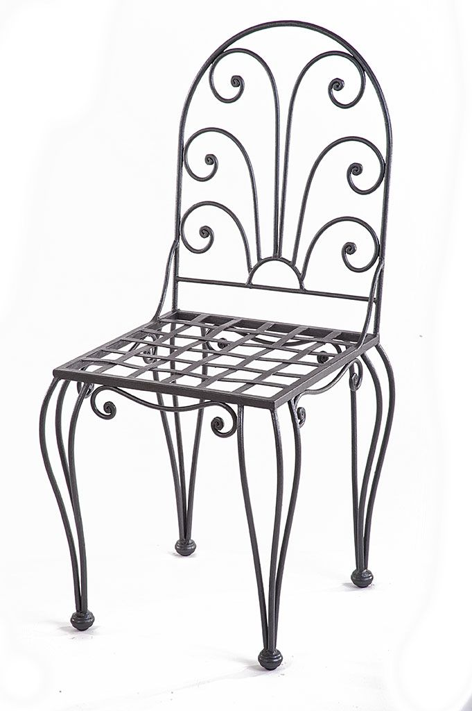 Sedia Vanity Chair.Wrought Iron Chair Sedia In Ferro Battuto Wrought Iron