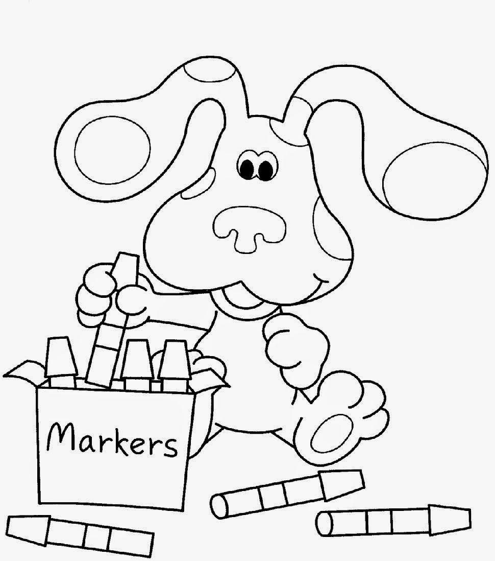 nice Blues Clues Coloring Pages Free Coloring Pages   Mcoloring ...