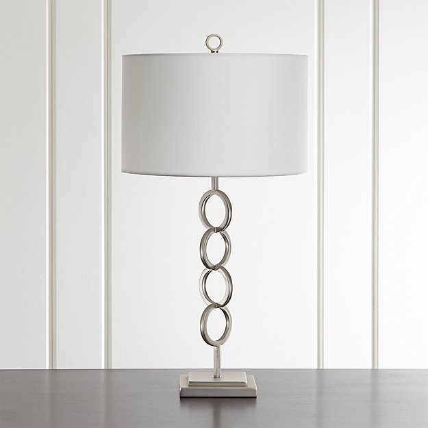 Axiom Brushed Silver Geometric Table Lamp Reviews Crate And Barrel Geometric Table Lamp Lamp Silver Table Lamps