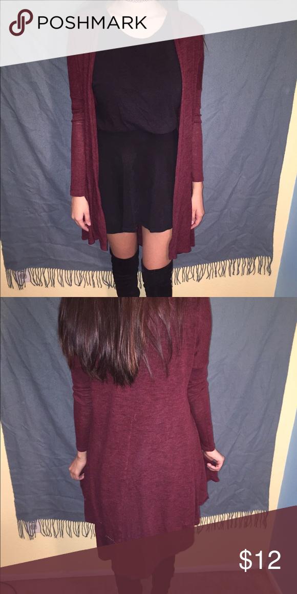 Burgundy cardigan Long burgundy cardigan. Sweaters Cardigans