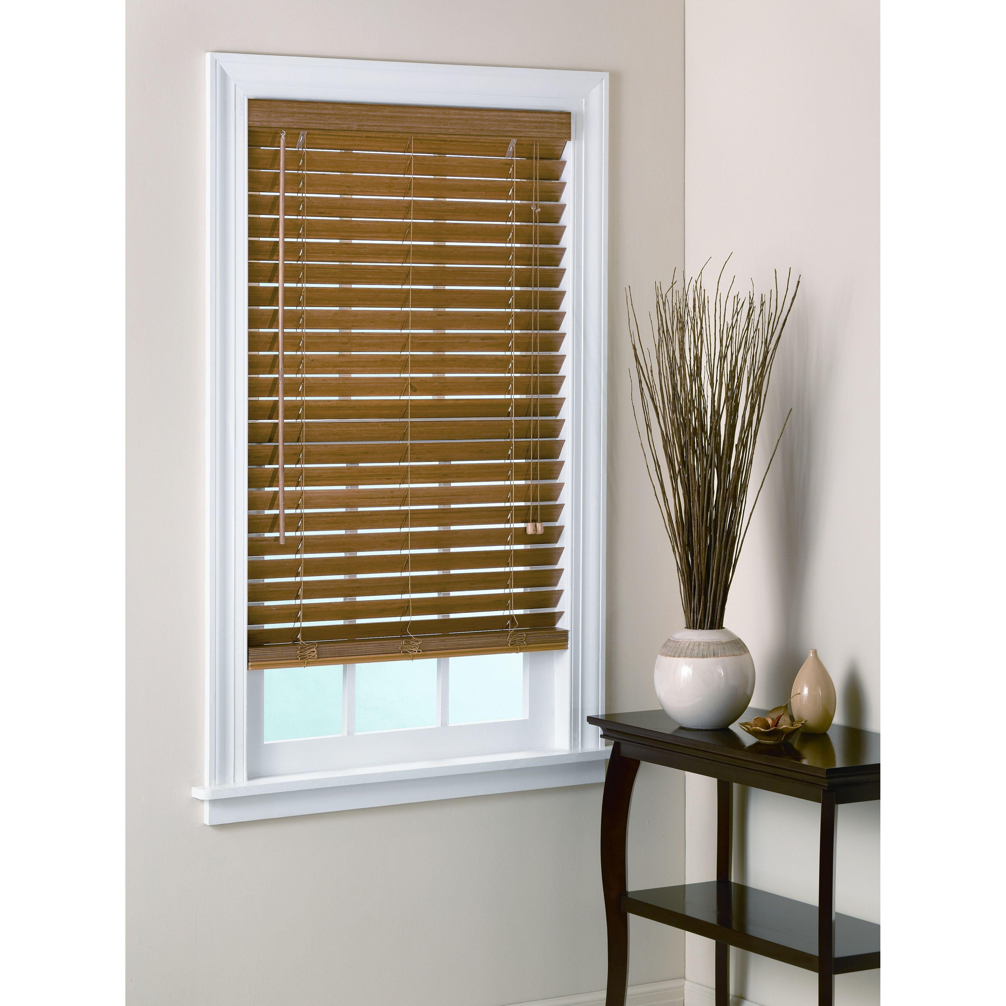 Garden window coverings  uhf pecan window blind x  new window treatments  pinterest