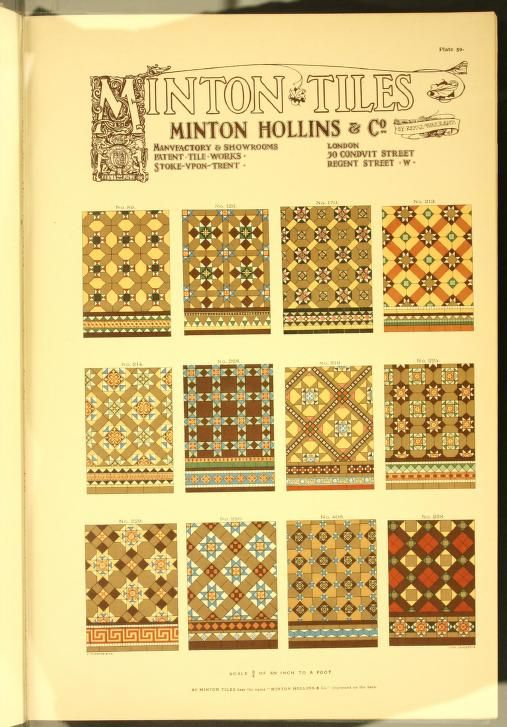 Minton Tiles Hollins Co Patent Tile