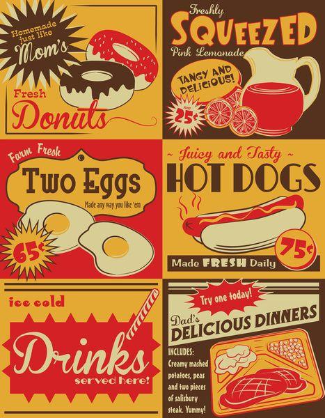 Retro Kitchen Advertising No 2 Art