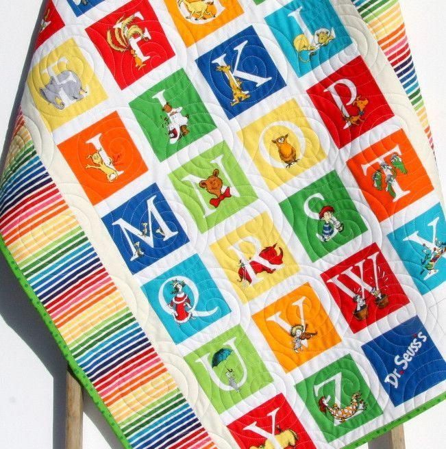 Dr Seuss Abcs Baby Quilt Letters