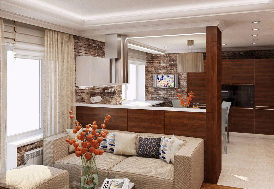 Кухня и гостиная 19 кв. м | Гостиная, Стили для гостиных ...