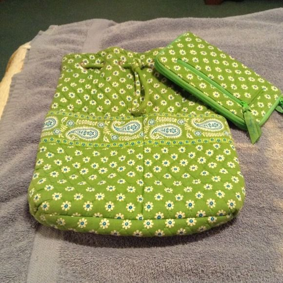 Vera Bradley draw string backpack Used BUT well taking care of and loved Vera Bradley Bags Backpacks