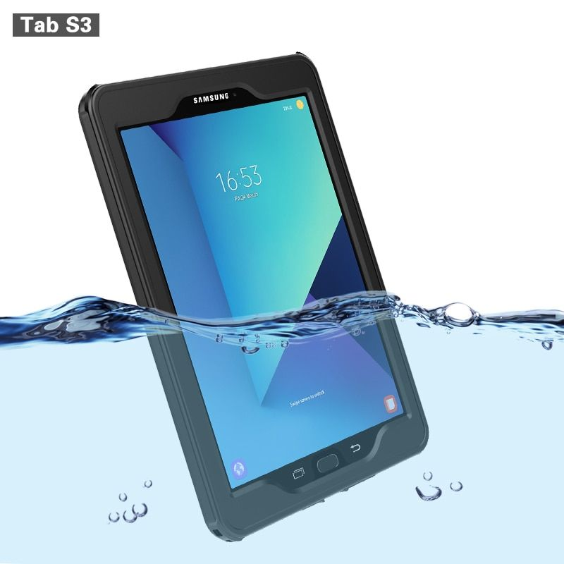 Waterproof Case For Samsung Galaxy Tab S3 Cases Transparent Ip68 Waterproof Shockproof Cover Outdoor Diving Swimming For Tabs3 Review Water Proof Case Samsung Galaxy Tab Samsung Tabs