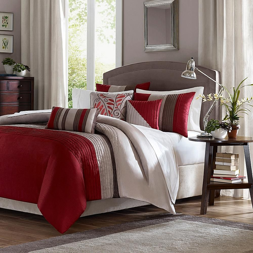 stripes pillow shams bedding bed blue covers duvet red white quilt sets cover prediter grey printing queen info cotton and comforter bedclothes canada single set
