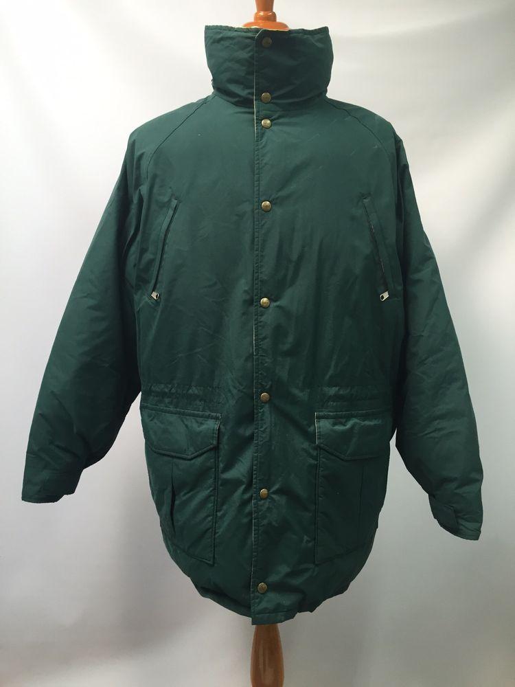 a862e8e29a9 L.L. Bean Parka Coat Goose Down Maine Warden's Green GoreTex Jacket Size L  Tall | eBay