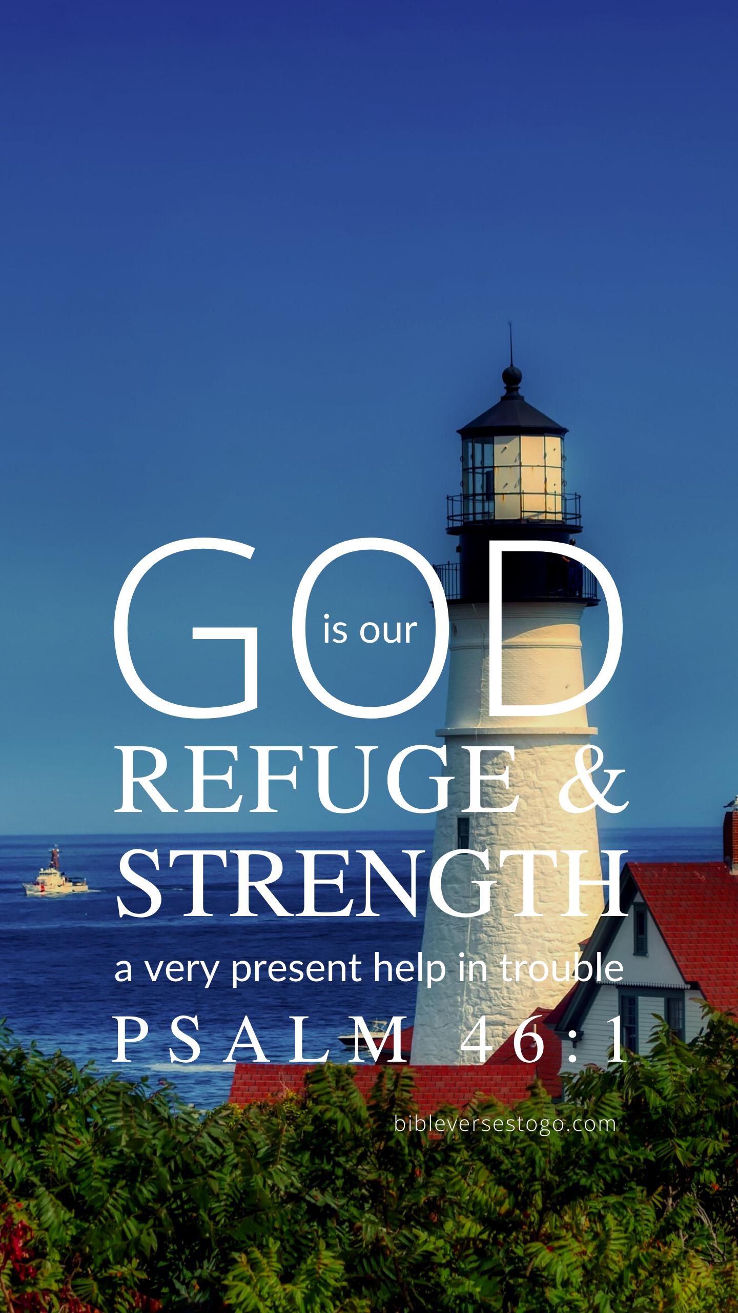 Lighthouse Psalm 461 Christian wallpaper, Bible verse