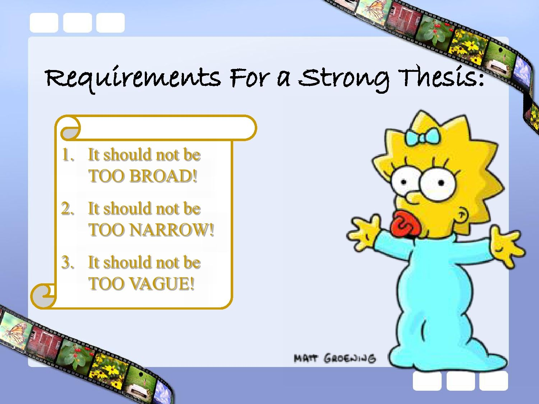 Topic Thesis Writing Strong Sentences Worksheet
