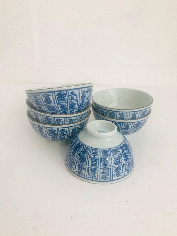 Chinese Porcelain Soup Bowls Rice Bowls Salad Bowls Set Of 6 In 2020 With Images Salad Bowls Set Soup Bowl Chinese Porcelain